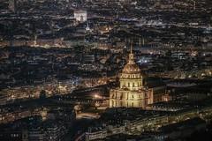 Invalides et l'arc (karinavera) Tags: city longexposure night photography cityscape urban ilcea7m2 architecture arc invalides arcdetriomphedelétoile aerial paris view