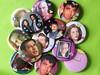 One Off Collage Badges (beckygarratt) Tags: badges pin button beckygarratt etsy handmade collage xfiles mulder scully georgeclooney jeffgoldblum ooak oneofakind