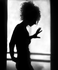 Darker than a Shadow (.Betina.) Tags: shadow shadowplay silhouette self iphoneography betinalaplante bb woman hand framed