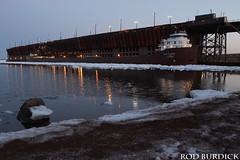 keb42218dkngtw_rb (rburdick27) Tags: oredock bluehour lakesuperior marquette kayeebarker interlakesteamshipcompany lights
