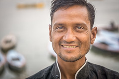 kind (andy_8357) Tags: sony a6000 ilce6000 ilcenex mirrorless man portrait street portraiture ganges ganga people person shirt kind kindness sympathetic heartful heart sigma 60mm f28 dn art emount e mount india varanasi clear eyes boats boat river beard goatee asia indian free alpha handsome