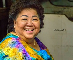 Happinez (Robica Photography) Tags: thailand bangkok woman female cheerful smile colourful dress daylight daytime closeup portrait d3200 streetphotography robicaphotography art streetart