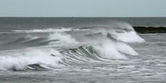 Waving Goodbye (RoystonVasey) Tags: canon eos 400d 70300mm usm zoom northumberland seahouses bamburgh beach sea sand surf