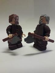 Brothers (oskarlechner04) Tags: vikings brothers tilldeath lego history custome fimo roman greek starwars legostarwars axe shield siblings