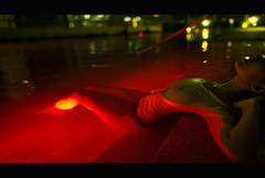 Insomnia (Berdnik Dmitriy) Tags: cinema cinematic cinematographic cinestyle brdnk red green yellow film style dark pool sexy girl tits neon light