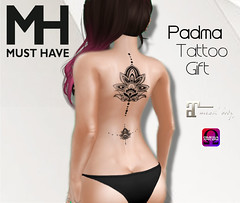 MUST HAVE - Padma Tatto Gift (Omega & Maitreya) (Must Have MH) Tags: omega maitreya belleza altamura slink applier bento gift free freebie present secondlife sl fashion must have musthave mh padma lotus