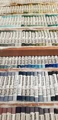 pastels by Henri Roche (overthemoon) Tags: switzerland suisse schweiz svizzera romandie vaud lausanne hermitage exhibition expo pastels phone henriroche samszafran rows labels