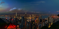 hong kong night scene (kcma17) Tags: hongkong hong kong city skyline blue hour dusk dawn sunset sunrise sonnenuntergang sonnenaufgang zeiss lights sky himmel heaven skyscraper water 城市 天際線 摩天大廈 天空 建築物 水 thepark 夜景 twilight sparkle
