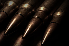 Ammo. (Steve.T.) Tags: macromondays lowkey bullets ammunition ammo macro nikon d7200 closeup detailed lowlight brass weapon weaponary firearm calibre