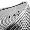 when i'm cleaning windows (khrawlings) Tags: windows cleaning glass office walkietalkie london city curve ropes abseiling monochrome bw blackandwhite