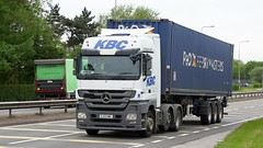 GJ13 KWL (Martin's Online Photography) Tags: mercedes actros mp3 truck wagon lorry vehicle freight haulage commercial transport a580 leigh lancashire nikon nikond7200 containner