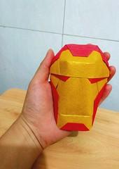 Armor Mask (guangxu233) Tags: origami origamiart paper art paperart paperfolding 折纸 折り紙 折り紙作品 brianchan ironman avengers