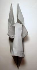 Donkey Mask (Laangen) Tags: gachepapier rainer berg wetfold papier paper esel donkey