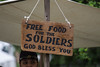 free food for the soldiers. god bless you (timp37) Tags: sign naperville illinois may 2018 naper settlement free food for soldiers god bless you