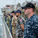 Multinational forces aboard USNS Brunswick man the rails as Pacific Partnership 2018