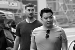 Market St Candids 5-21-18 111 (TheseusPhoto) Tags: monochrome monotone noir people citylife city candid blackandwhite bnw blancoynegro streetphotography street sanfrancisco marketstreet guys men faces
