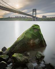 George Washington Bridge (Derek Boen) Tags: georgewashingtonbridge longexposure gwbridge nyc newyorkcity newjersey hudsonriver pentaxk1 rock river