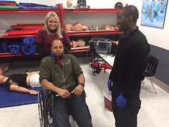 EMS Training (CityCollegeFTL) Tags: paramedic firstaid cpr training class simulator college students florida citycollege