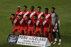 The Peruvian national team before the start of the friendly match against Iceland (Hazboy) Tags: hazboy hazboy1 island peru iceland friendly game match football soccer futbol red bull arena harrison nj new jersey march 2018