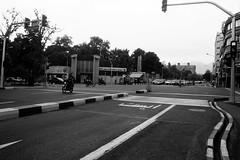 American Embassy from Taleqani St. and S. Mofatteh Ave intersection- Tehran (mesutsuat) Tags: iran tehran pentax k1000 fujifilm acros 100 fuji blackwhite 35mm film analog negative middle east