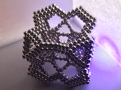 """Bent strut truncated cube with adornments <a style=""""margin-left:10px; font-size:0.8em;"""" href=""""http://www.flickr.com/photos/147937162@N06/27044059977/"""" target=""""_blank"""">@flickr</a>"""