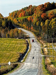 ... (Jean S..) Tags: road truck autumn fall colors colorfun field sky