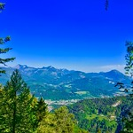 View over river Inn valley from Kaiser mountains in Tyrol, Austria thumbnail