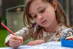 Colouring (slaup) Tags: niamh grandaughter grandchild child girl study studious concentration colouring portrait