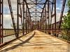 One Lane Bridge (clarkcg photography) Tags: bridge neoshoriver grandriver fortgibson iron steel onelane pedestrianbridge