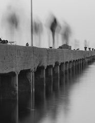 Shadows on the pier