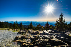Blue Ridge Mountains (apasciuto) Tags: blueridgemountains northcarolina wideangle mountains trees sky atmosphericperspective hills hiking outdoors nature landscape vista view lens flare l lensflare