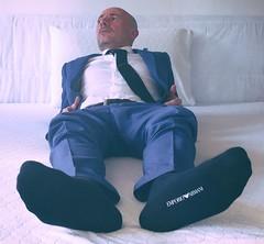 Armani socks (daniele beipiedi) Tags: socks bluesocks