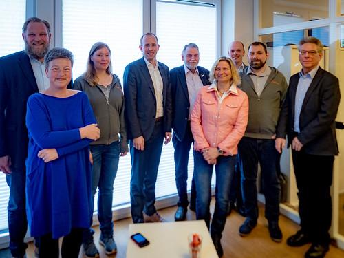 Zusammen mit KollegInnen aus Landtag und der Ratspolitik habe ich das Digitalisierungsunternehmen Erminas GmbH in Oldenburg besucht. Foto: Sandra Schink.