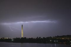 LIGHTNING STRIKE (A B Pan) Tags: lightningstrike washingtonmonument tidalbasin jeffersonmemorial weather tornado derecho wind rain washingtondc nationalmall evening