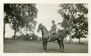 Vintage Photo of Man on Horse