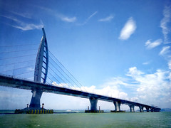HongKong-Zhuhai-Macau Bridge (MelindaChan ^..^) Tags: zhuhai china 珠海 外伶仃島 chanmelmel mel melinda melindachan blue sea water
