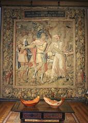 Julius Caesar, tapestry depicting a scene from his life, Flemish work, 16th-17th century (Monopthalmos) Tags: juliuscaesar spurina soothsayer sybil fury tapestry wallhanging 16thcentury henryviii palácionacionaldesintra portugal