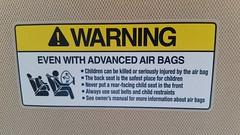 Air Bag Warning (Adventurer Dustin Holmes) Tags: 2018 vehicle airbagwarning warning safetysticker sticker visor childairbag childrenairbag honda