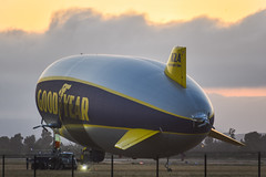 n2a wingfoot 2 (pbo31) Tags: livermore california nikon d810 color eastbay alamedacounty airport aviation may 2018 boury pbo31 goodyear blimp airship n2a wingfoot2 sunset