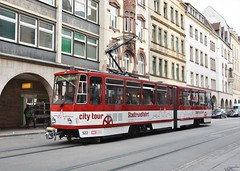 Erfurt, Bahnhofstraße 14.10.2016 (The STB) Tags: tatrawagen čkd tram tramway strassenbahn strasenbahn publictransport streetcar citytransport öpnv erfurt deutschland germany