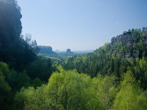 Widok na Falkenstein spod Kleiner Dom