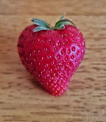 Heart shaped strawberry!❤😊🍓 (LeanneHall3 :-)) Tags: strawberry fruit red closeup closeupphotography samsung