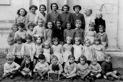 Class photo (theirhistory) Tags: school class group form children boys jumper jacket shoes wellies boots