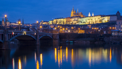 Prague Castle across Vltava River