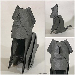 Sketch: Chairman Meow. #artist #artistsoninstagram #origami #origamiart #josephwuorigami #josephwu #paperart #paperartist #paperartistcollective (Joseph Wu Origami) Tags: instagram ifttt
