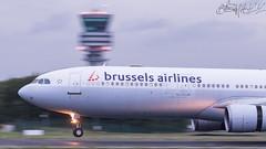 Brussels Airlines Airbus A330-301 OO-SFO-2 (Ben Stanley Hall) Tags: brussels airlines airbus a330301 oosfo ebbr bru melsbroek zavantem belgium belgian europe be sn a330 a332 a333 canon 7d2 avgeek avporn aviation fly flight flying airline airliner transport transportation landing spotters spotting pan panning slow shutter speed
