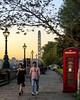 An Evening Walk (JH Images.co.uk) Tags: london hdr dri architecture sunset sun telephone box people tree londoneye lamp walking