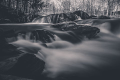 Willoughby Falls (Aryk Tomlinson) Tags: vermont black white long exposure waterfall canon rebel