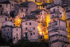 Scanno sera (SDB79) Tags: sera scanno abruzzo luce case architettura antico paese