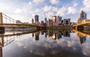 morning in the city (..Ania.) Tags: city cityscape buildings bridge water clouds reflection downtown pittsburgh 6cityscapepanorama 52in2018 landscape river alleghenyriver sky